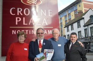 Crowne Plaza Hotel, Nottingham – Bridie Bradley, Ian Jelf, Larry Breen and Bernard McGonigle.