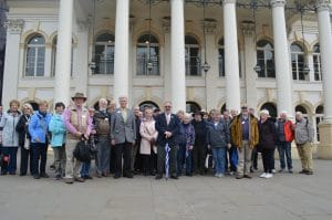 Group outside Theatre Royal Nottingham