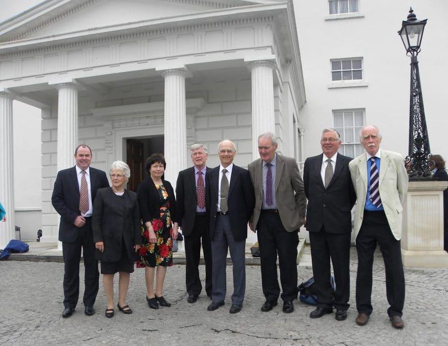 FLHS commitee visit to Áras an Uachtaráin